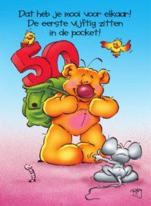 Verjaardagswensen 50 jaar kaartje