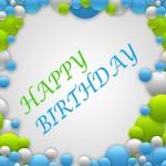 kaart voor verjaardag groen blauw