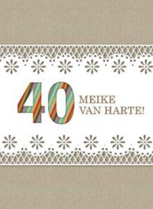 40 jaar van harte kaartje
