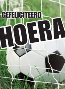 Gefeliciteerd voetbal