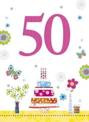 Ongebruikt Verjaardag 50 jaar ⋆ Verjaardagswensen OG-55