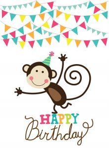 Gefeliciteerd aap