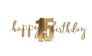Verjaardag 15 jaar
