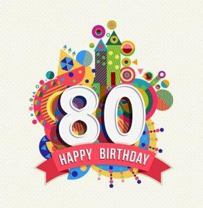 Verjaardag 80 jaar